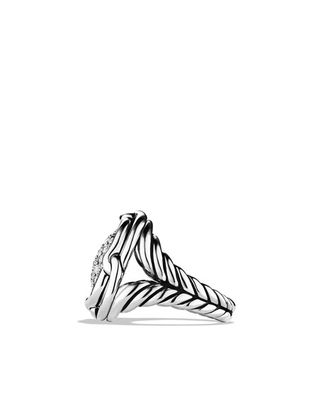 Labyrinth Small Ring with Diamonds