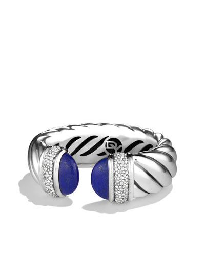 David Yurman Waverly Bracelet with Lapis Lazuli and Diamonds