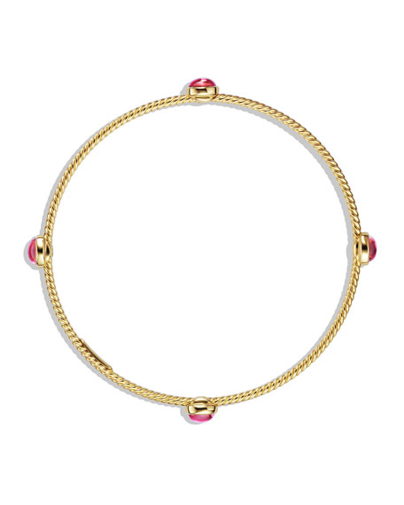 Color Classics Four-Station Bangle with Pink Tourmaline in Gold