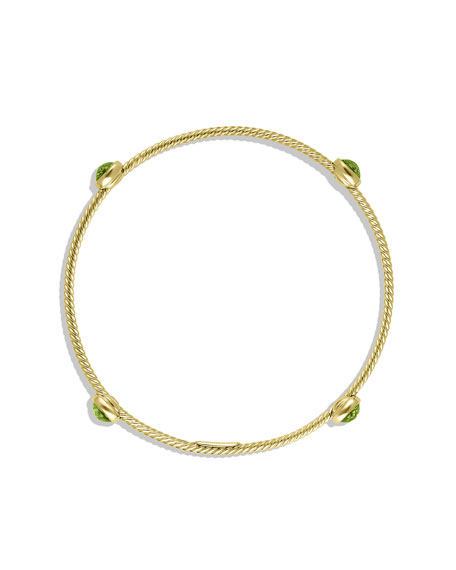 Color Classics Four-Station Bangle with Peridot in Gold