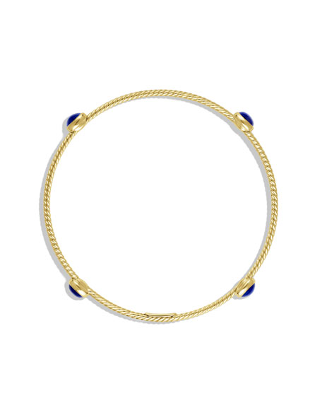 Color Classics Four-Station Bangle with Lapis Lazuli in Gold