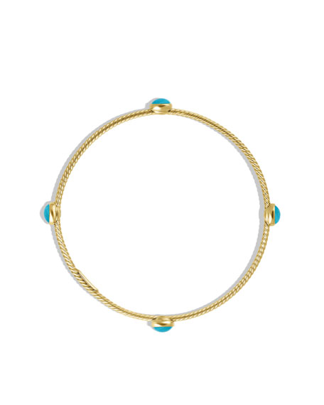 Cable Classics Bangle Bracelet, Turquoise