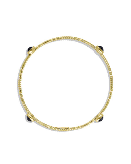 Color Classics Four-Station Bangle with Black Onyx in Gold