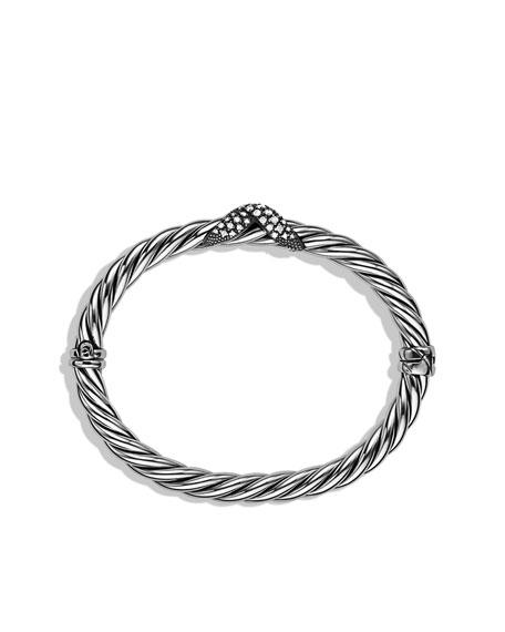 X Collection Narrow Bracelet with Diamonds