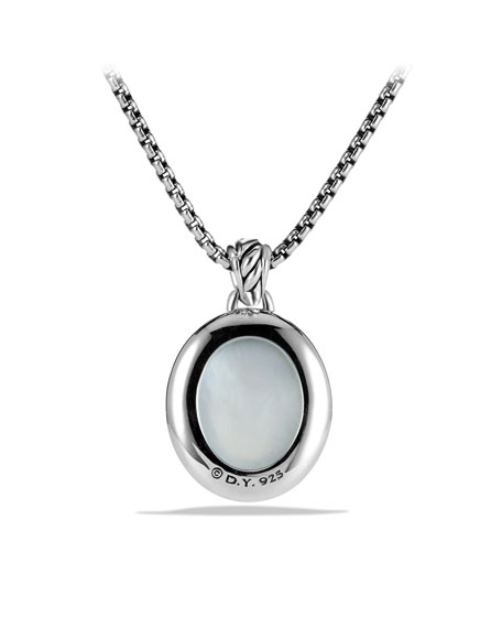 DY Signature Oval Pendant with Moon Quartz and Diamonds