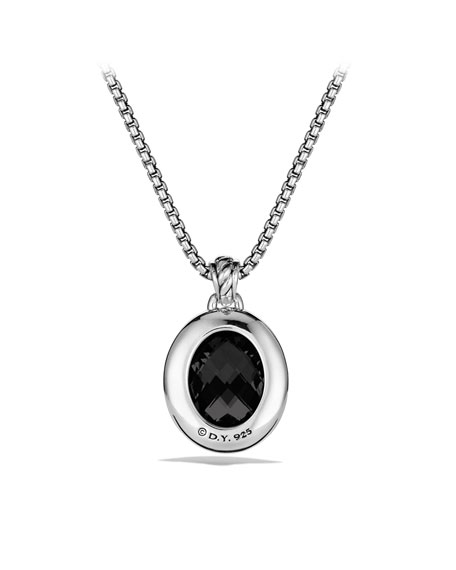 DY Signature Oval Pendant with Black Onyx and Diamonds