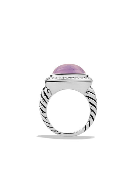 Albion Ring with Lavender Moon Quartz and Diamonds