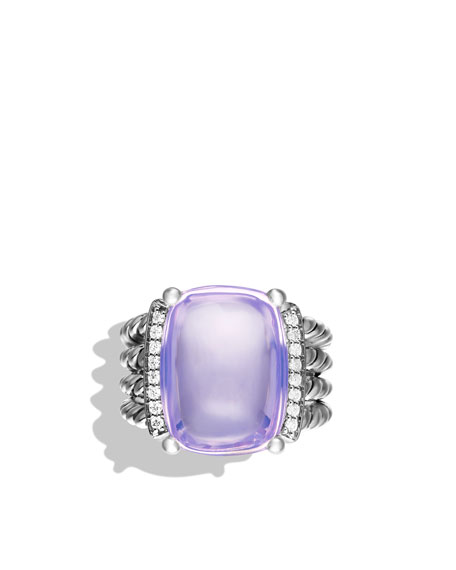 Wheaton Ring with Lavender Moon Quartz and Diamonds