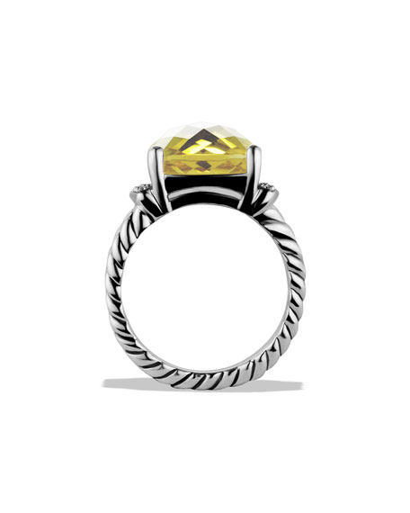 Wheaton Ring with Lemon Citrine and Diamonds