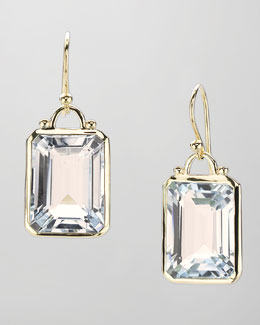 Elizabeth Showers Square White Quartz Drop Earrings