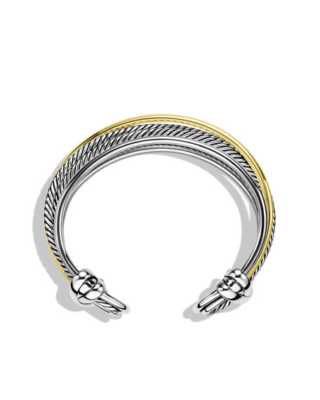 Crossover Narrow Cuff with Gold