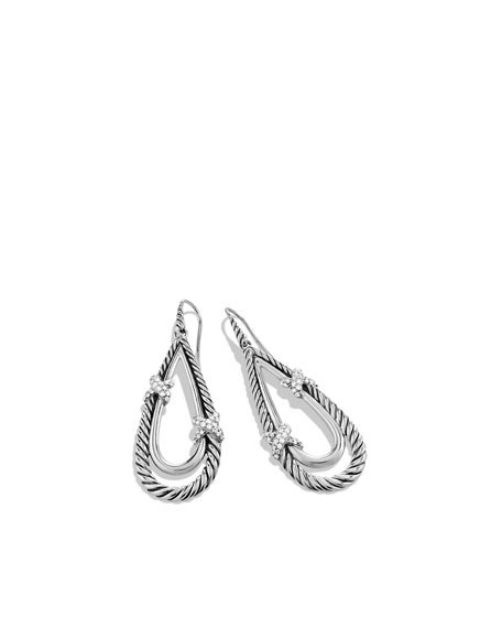 X Drop Earrings with Diamonds