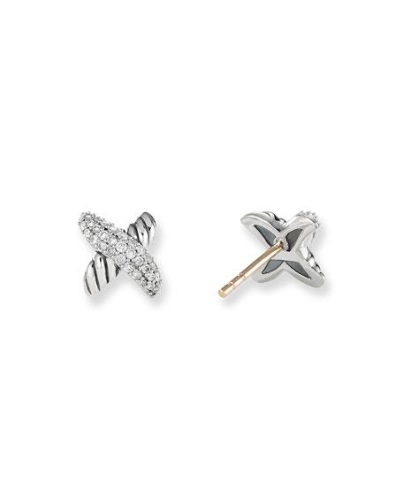 David Yurman X Earrings with Diamonds