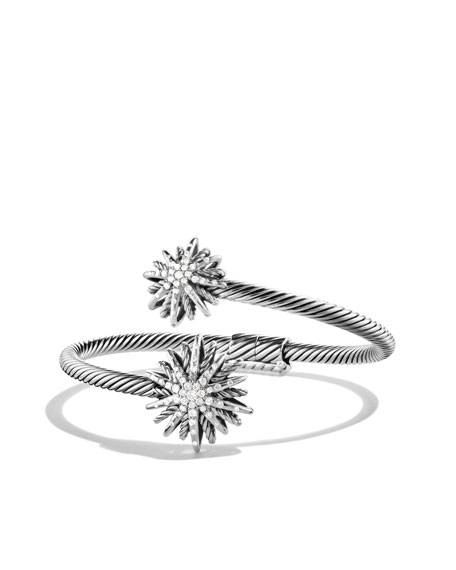 Starburst Open Bracelet with Diamonds
