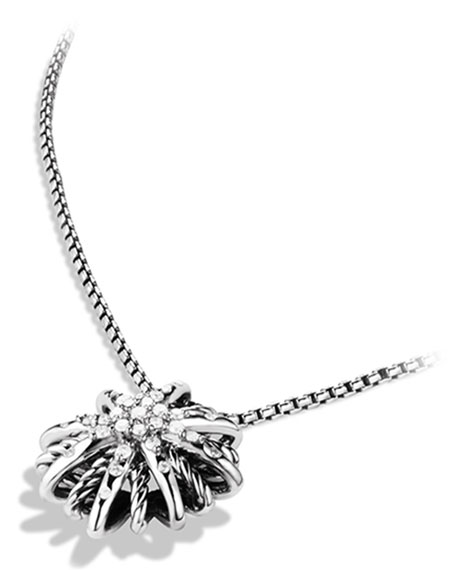 Starburst Small Pendant with Diamonds on Chain
