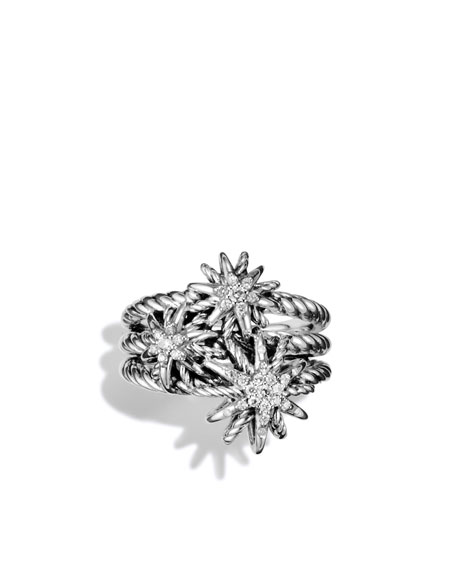 Starburst Cluster Ring with Diamonds