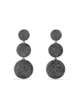 David Yurman Cable Coil Three-Drop Earrings