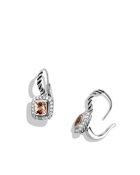 Albion Drop Earrings with Morganite and Diamonds
