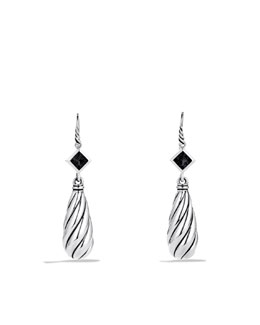 David Yurman Color Classics Drop Earrings with Black Onyx