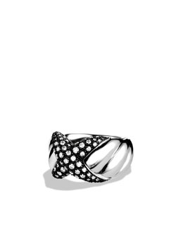 David Yurman X Collection Ring with Diamonds