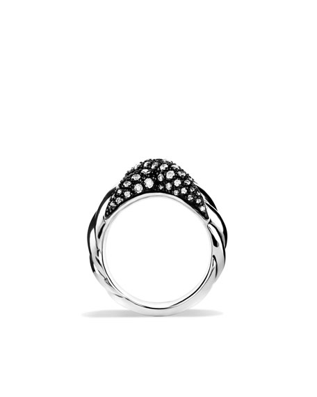 X Collection Ring with Diamonds