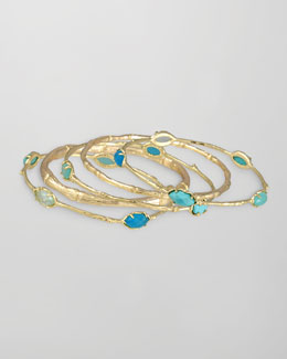 Kendra Scott Turquoise Bella Bangles, Set of 5