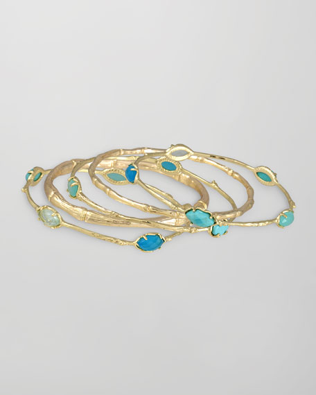 Turquoise Bella Bangles, Set of 5