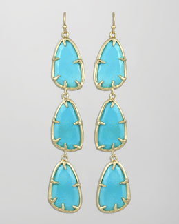 Kendra Scott Lillian Drop Earrings, Turquoise