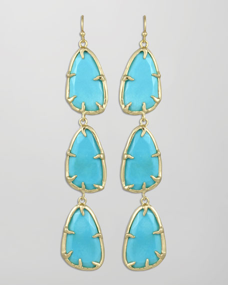 Lillian Drop Earrings, Turquoise