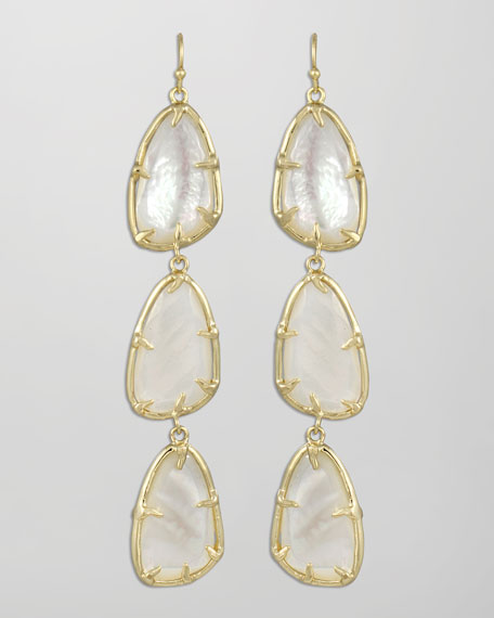 Lillian Drop Earrings, Pearl