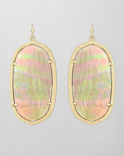 Kendra Scott Danielle Earrings, Brown Mother-of-Pearl