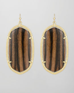 Kendra Scott Danielle Earrings, Ebony Wood