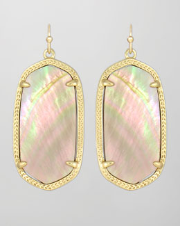 Kendra Scott Elle Earrings, Brown Mother-of-Pearl