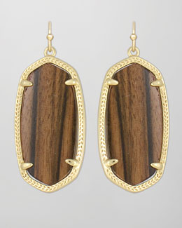 Kendra Scott Elle Earrings, Ebony Wood