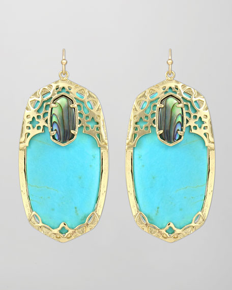 Deva Earrings, Turquoise