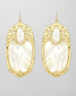 Kendra Scott Deva Earrings, Mother-of-Pearl
