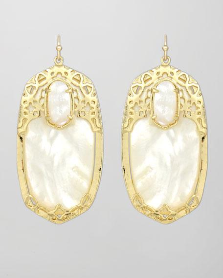 Deva Earrings, Mother-of-Pearl