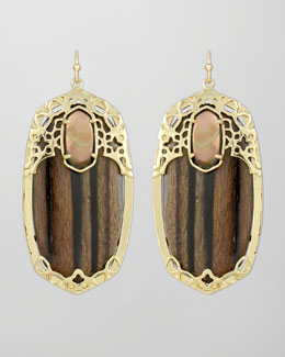 Kendra Scott Deva Earrings, Ebony Wood