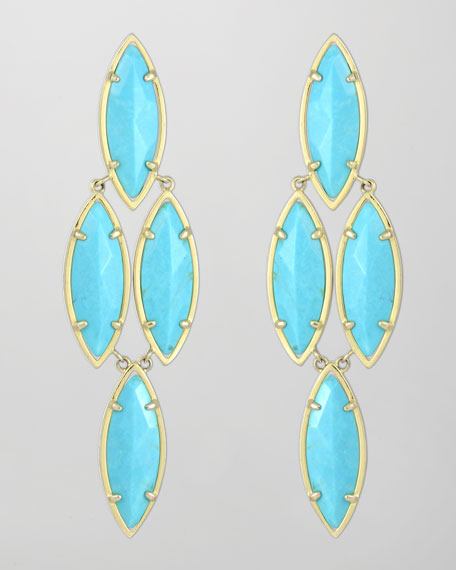 Arminta Drop Earrings, Turquoise