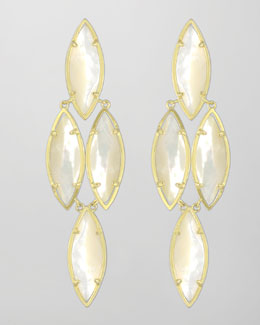 Kendra Scott Arminta Drop Earrings, Pearl