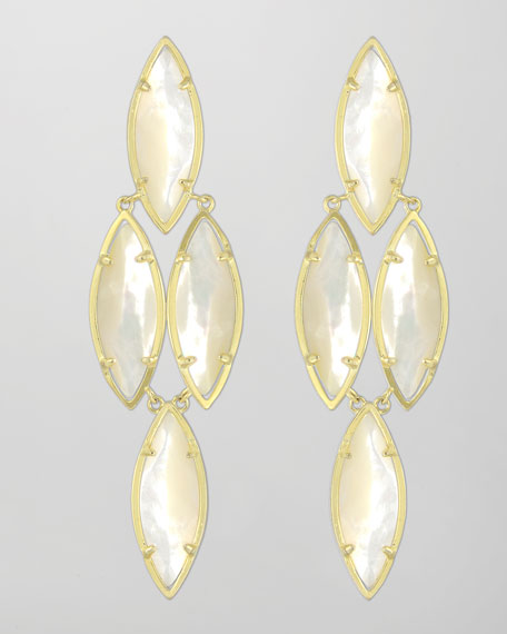 Arminta Drop Earrings, Pearl