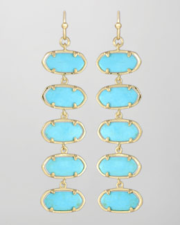 Kendra Scott Ives Earrings, Turquoise