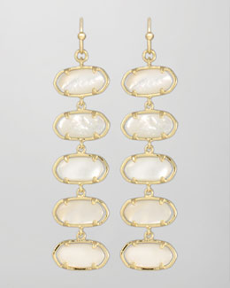 Kendra Scott Ives Earrings, Mother-of-Pearl