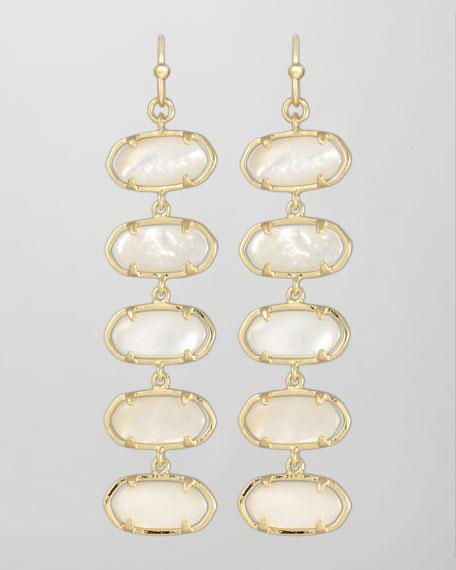 Ives Earrings, Mother-of-Pearl