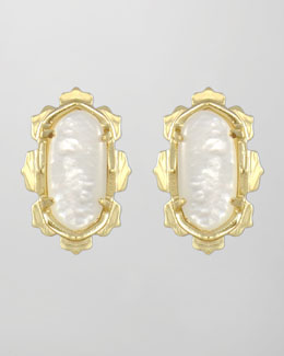 Kendra Scott Shina Stud Earrings, Mother-of-Pearl