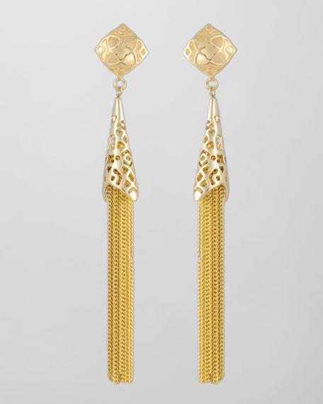 Teishya Gold Tassel Earrings