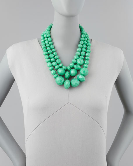 give it a swirl 3-strand necklace