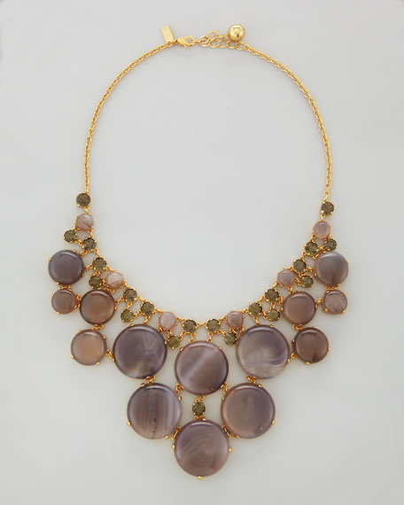 mood-stone statement necklace, gray