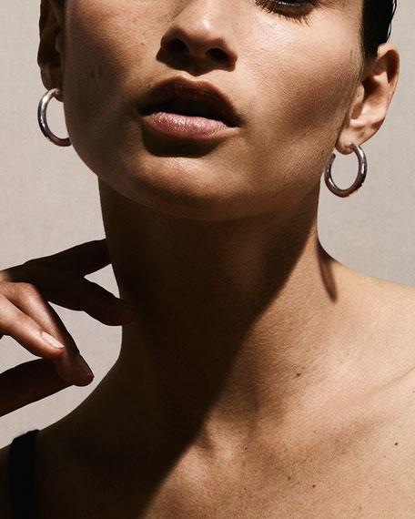 Glamazon Silver Hoop Earrings