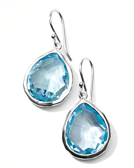 Silver Rock CandyTeardrop Earrings in Sky Blue Topaz
